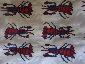 Lobster Print Voile