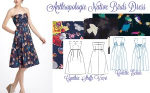 Anthropologie Bird Dress