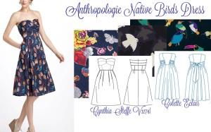 Anthropologie Bird Dress