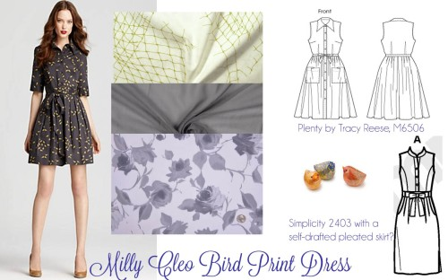 Milly Cleo Bird Print Dress