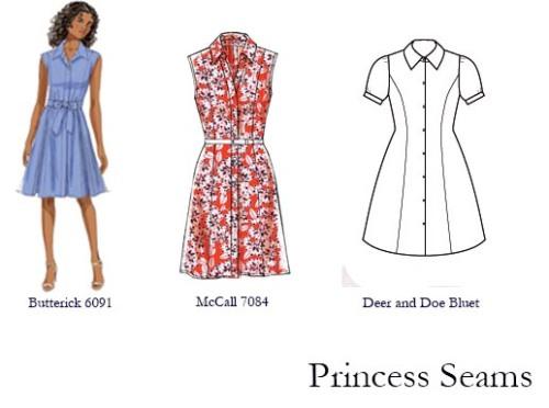 Princess Seamed Shirtwaists