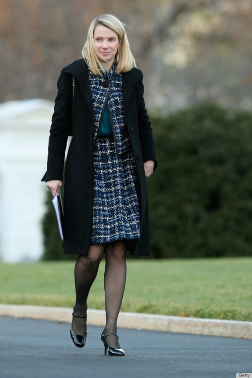 WASHINGTON, DC - NOVEMBER 28:  Yahoo! President and CEO Marissa Mayer arrives at the White House for a meeting with President Barack Obama and other business leaders November 28, 2012 in Washington, DC. According to the White House, the American business executives met with Obama to discuss economic growth and deficit reduction.  (Photo by Chip Somodevilla/Getty Images)