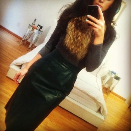 OscarPRGirl Leather Skirt